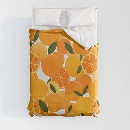 mediterranean oranges still life  Duvet Cover
