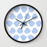 shells Wall Clocks featuring Shells by BIGEHIBI