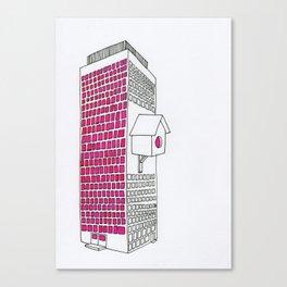 High rise birdhouse. Canvas Print