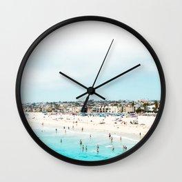 Travel Photography Love The Aqua Ocean Beach Wall Clock