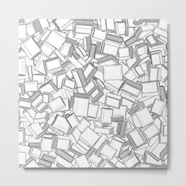 The Book Pile II Metal Print
