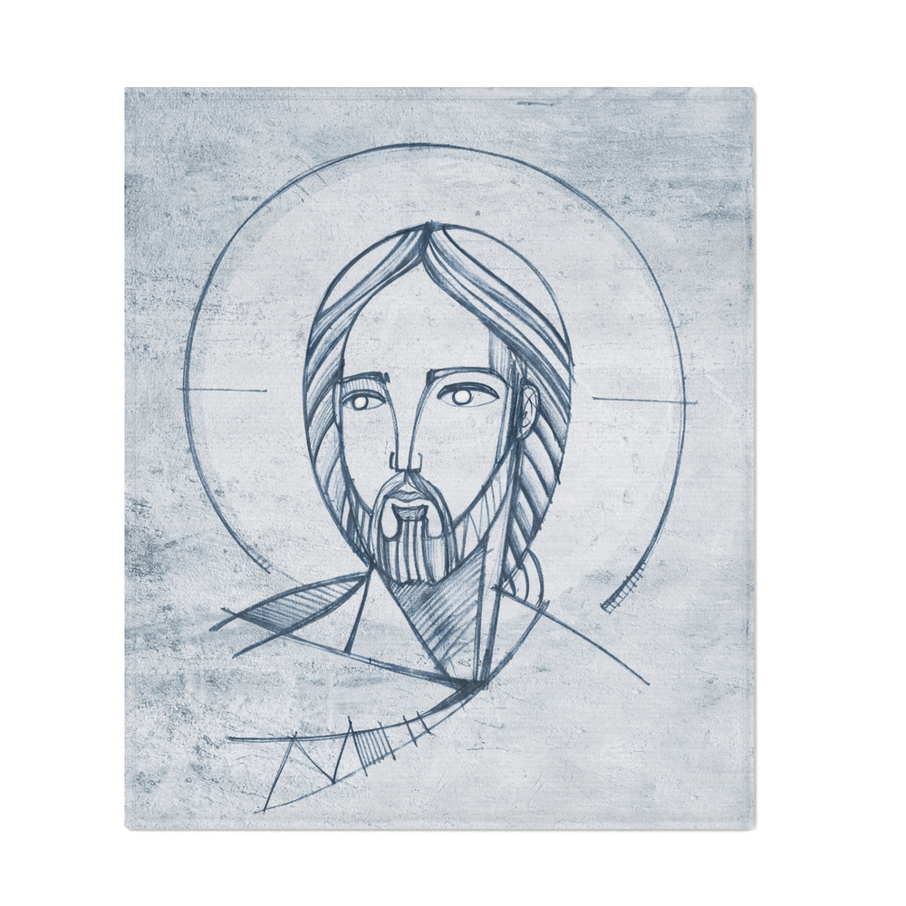 Jesus_Christ_Friendly_Face_Throw_Blanket_by_bernardojbp