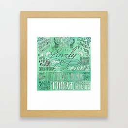 Lovely (Green) Framed Art Print