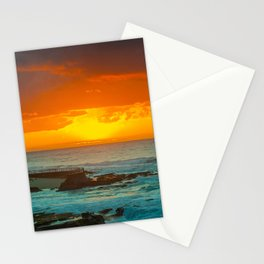 Sunset over childrens pool Stationery Cards