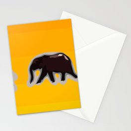 Elephants walking in the savanah Stationery Cards