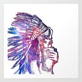 Space Indian Art Print