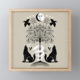 garden of the moon Framed Mini Art Print