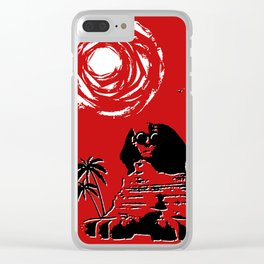 Sunshine Sentinel (Red) Clear iPhone Case