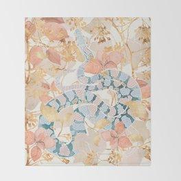 Coral Spring Garden Throw Blanket