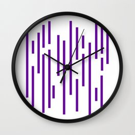 Minimalist Lines - Indigo Wall Clock