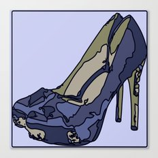 Blue sweet shoe -or....? Canvas Print