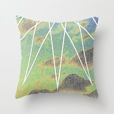 Solarized Burst Throw Pillow
