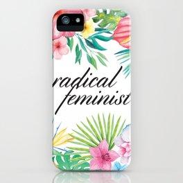 Radical Feminist iPhone Case