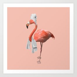 Squeaky Clean Flamingo Art Print