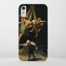 """Francisco Goya """"Witches' Flight also known as Witches in Flight or Witch"""" iPhone Case"""