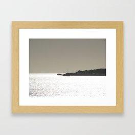 Silver harbor Framed Art Print