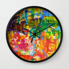 My Colour Wheel Exploded Wall Clock