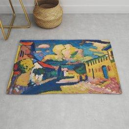 "Wassily Kandinsky ""Murnau. A Village Street"" (1908) Rug"