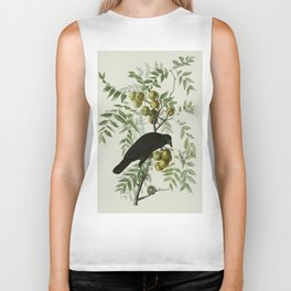 Vintage Crow Illustration Biker Tank