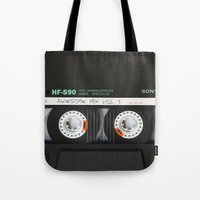 daenerys targaryen Tote Bags featuring cassette classic mix by neutrone