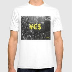 YES NYC Mens Fitted Tee White MEDIUM