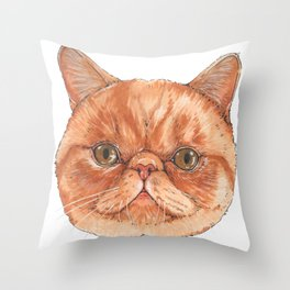 Betty aka The Snappy Cat- artist Ellie Hoult Throw Pillow