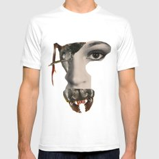 Ant Face Mens Fitted Tee White MEDIUM