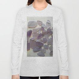 Genuine Purple Sea Glass Collection Long Sleeve T-shirt