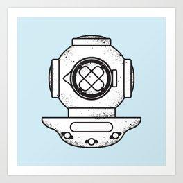 Deep Sea Dive Helmet Art Print