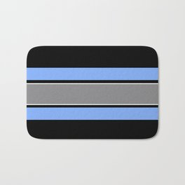 Team Colors 2...Light blue , gray Bath Mat