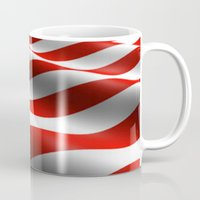 patriots Mugs featuring Patriotic US Waving Flag  by D.A.S.E. 3