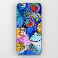 fairies iPhone & iPod Skins featuring Fairies Cats by oxana zaika