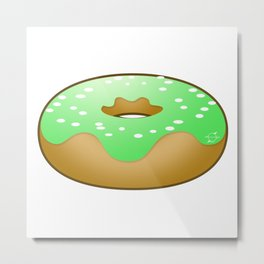 Totally Baked - Key Lime Donut Metal Print