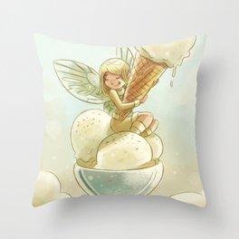 Goblins Drool, Fairies Rule! - Vanilla Scoop Throw Pillow
