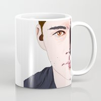 dylan Mugs featuring dylan o'brien by Finduilas