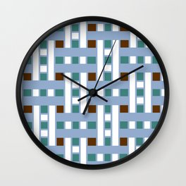 Cross Stitch Quilt Latter Design Chutes Weave Wall Clock
