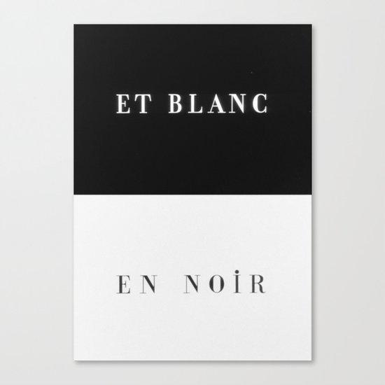 Et Blanc En Noir Canvas Print