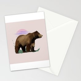 Mother Bear & Cub Stationery Cards