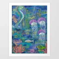 Coastal Reef Art Print