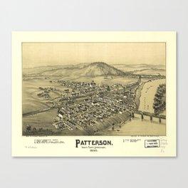 Aerial View of Patterson (Mifflin), Pennsylvania (1895) Canvas Print