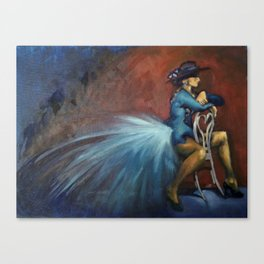Peacock Dancer Canvas Print