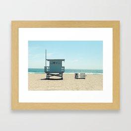 Manhattan Beach Lifeguard Tower Framed Art Print