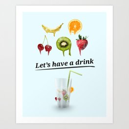 Fruits drink  Art Print