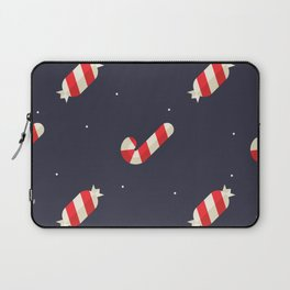 Red Christmas Peppermint Pattern Laptop Sleeve