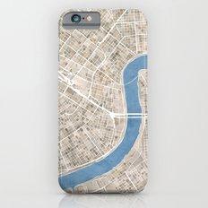 New Orleans Cobblestone Watercolor Map iPhone 6s Slim Case