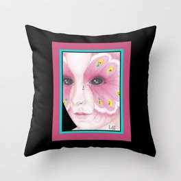 Butterfly Girl #1 Throw Pillow