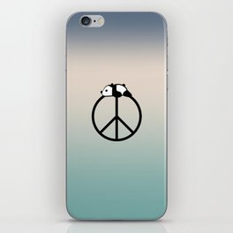 Peace and panda iPhone Skin