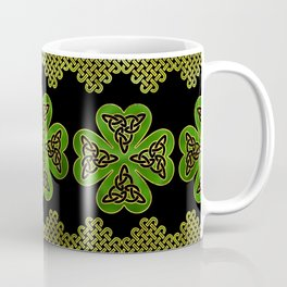 Shamrock Four-leaf clover with Triquetra Coffee Mug