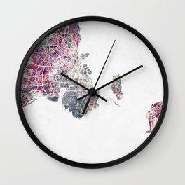 Copenhagen map Wall Clock