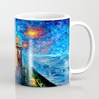 fandom Mugs featuring The 10th Doctor who Starry the night Art painting iPhone 4 4s 5 5c 6, pillow case, mugs and tshirt by Three Second